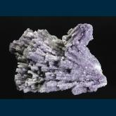 Fluorite with Barite after Laumonite